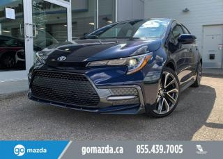 Used 2020 Toyota Corolla XSE - LEATHER, TOYOTA SAFETY PKG, BLUETOOTH, HEATED SEATS, NAV IN BRILLIANT BLUE for sale in Edmonton, AB