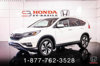 Used 2016 Honda CR-V TOURING + AWD + CUIR + TOIT + WOW! for sale in St-Basile-le-Grand, QC