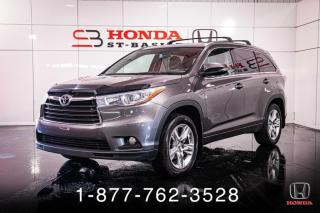 Used 2014 Toyota Highlander LIMITED + AWD + CUIR + TOIT + WOW! for sale in St-Basile-le-Grand, QC
