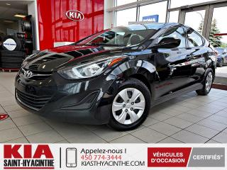 Used 2014 Hyundai Elantra L ** GR ÉLECTRIQUE for sale in St-Hyacinthe, QC