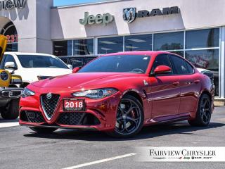Used 2018 Alfa Romeo Giulia Quadrifoglio l NAV l HEATED SEATS l for sale in Burlington, ON