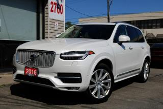 Used 2016 Volvo XC90 T6 Inscription, Navi, 360 Cam, Cooled Seats, 7 Pass Clean for sale in North York, ON