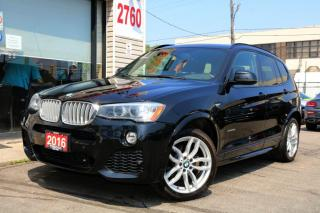 Used 2016 BMW X3 xDrive28i M Sport, Navigation, Camera, Panoramic for sale in North York, ON