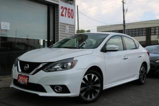 Used 2016 Nissan Sentra SR, Roof, Camera, Heated Seats, Alloy Rims, No Accident for sale in North York, ON