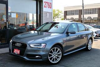 Used 2016 Audi A4 2.0L Progressiv Plus,S Line,Navi, Cam, Roof, Super Clean for sale in North York, ON
