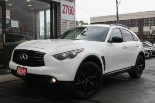 Used 2016 Infiniti QX70 S Edition, Navi, Cam, Roof, Heated+Cooled Seats, Clean for sale in North York, ON