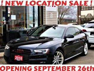 Used 2016 Audi S5 3.0T Quattro Technik, Navi, Roof, Camera, No Accidents for sale in North York, ON