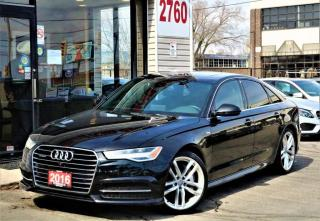 Used 2016 Audi A6 Quattro S Line, Navi, Camera, Roof, No Accidents for sale in North York, ON