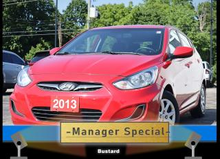 Used 2013 Hyundai Accent 5dr Man GL | HEATED SEATS | MANUAL | ACCIDENT FREE for sale in Waterloo, ON