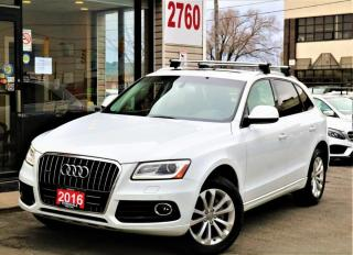 Used 2016 Audi Q5 2.0T Quattro Progressiv, Navi, PanoRoof, Alloys, Camera for sale in North York, ON