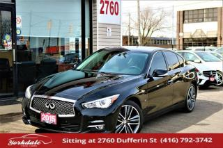 Used 2015 Infiniti Q50 AWD, Navi, Camera, Blind Spot, Bose Sound, Lane Assist, Roof for sale in North York, ON