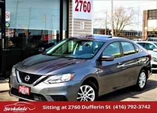Used 2018 Nissan Sentra SV, Sunroof, Camera, Push To Start, Bluetooth, Alloy Rims for sale in North York, ON