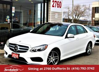 Used 2016 Mercedes-Benz E-Class E400, Distronic+, Navi, Pano Roof, Camera, No Accident, for sale in North York, ON