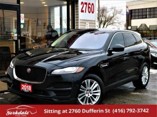 Used 2018 Jaguar F-PACE 25t AWD Prestige ,Navigation, Panoramic, Very Clean for sale in North York, ON