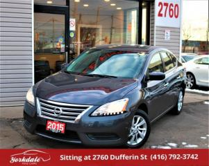 Used 2015 Nissan Sentra , Camera, Alloys, Heated Seats, No Accident for sale in North York, ON
