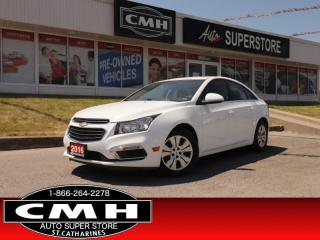 Used 2016 Chevrolet Cruze Limited LT w/1LT   ROOF CAM BT S/W-AUDIO for sale in St. Catharines, ON