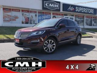 Used 2017 Lincoln MKC Select  NAV PANO-ROOF P/SEATS MEM P/GATE HS for sale in St. Catharines, ON