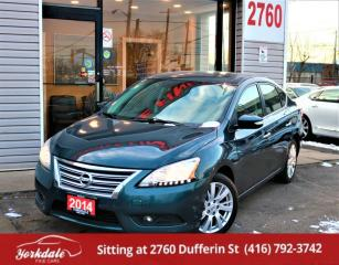 Used 2014 Nissan Sentra SL, Navi, Camera, Leather, Roof, Alloys, Heated Seats for sale in North York, ON