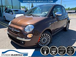 Used 2013 Fiat 500 LOUNGE CUIR, TOIT, MAGS, BLUETOOTH+ for sale in Blainville, QC