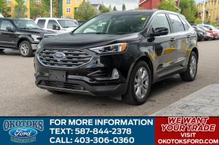 Used 2019 Ford Edge Titanium 301A/ROOF/HTD-COOLED SEATS/HTD WHEEL/ADAPTIVE/FORD PASS for sale in Okotoks, AB