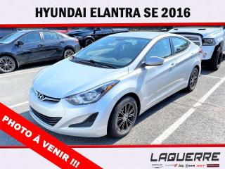 Used 2016 Hyundai Elantra SE for sale in Victoriaville, QC