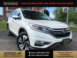 Used 2016 Honda CR-V Touring AWD-Navi-Backup/BlindSpot Cam-Sunroof-Htd Lthr Seats-Alloys for sale in London, ON