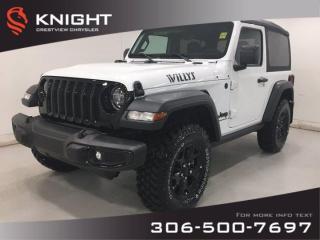 New 2020 Jeep Wrangler Willys Wheeler Turbo for sale in Regina, SK