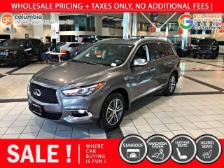 Used 2020 Infiniti QX60 PURE AWD - Accident Free / Nav / Sunroof for sale in Richmond, BC