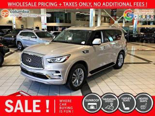 Used 2019 Infiniti QX80 LUXE AWD - No Accident / 8 Pass / DvD for sale in Richmond, BC