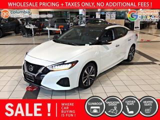 Used 2019 Nissan Maxima SL - Accident Free / Local / Nav for sale in Richmond, BC