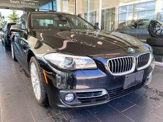 Used 2015 BMW 5 Series 528i xDrive AWD, ACCIDENT FREE, SUNROOF, POWER HEATED LEATHER SEATS, NAVI for sale in Edmonton, AB