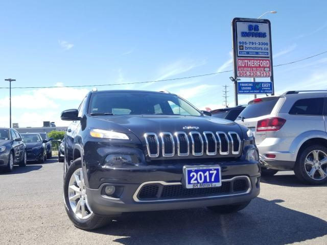 2017 Jeep Cherokee Limited AWD LEATHER NO ACCIDENTS CARFAX CLEAN