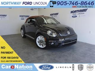 Used 2019 Volkswagen Beetle Convertible WOLFSBURG ED. | CONVERTIBLE | DIAMOND STITCHED for sale in Brantford, ON