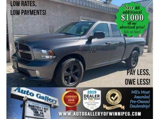 Used 2018 RAM 1500 Express 4x4 Quad Cab 6'4  Box -Ltd Avail- for sale in Winnipeg, MB