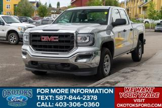 Used 2018 GMC Sierra 1500 5.3L V8/SPRAY IN LINER/REAR CAM/4X4/TOUCH SCREEN for sale in Okotoks, AB