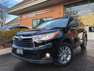 Used 2016 Toyota Highlander AWD XLE Navi Sunroof Rear Cam R.Starter Certified* for sale in Concord, ON