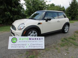 Used 2011 MINI Cooper AUTO, ROOF, INSP, BCAA MBSHP, WARRANTY & FINANCING! for sale in Surrey, BC