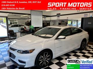 Used 2018 Chevrolet Malibu LT+Pano Roof+Tech PKG+RMT Start+Accident Free for sale in London, ON