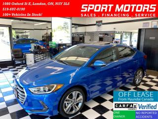 Used 2017 Hyundai Elantra GLS+Camera+Sunroof+New Tires+Accident Free for sale in London, ON