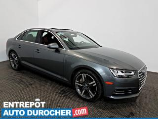 Used 2017 Audi A4 Technik AWD NAVIGATION - Toit Ouvrant - A/C - Cuir for sale in Laval, QC