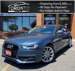 Used 2015 Audi A4 2.0T Premium Sedan quattro NAVI BACK-UP CAMERA SUNROOF LEATHER BLUETOOTH for sale in North York, ON