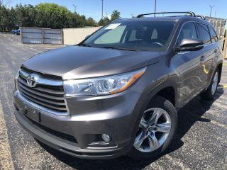 Used 2016 Toyota Highlander LIMITED AWD for sale in Cayuga, ON