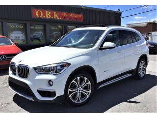 Used 2017 BMW X1 xDrive28i-TOIT OUVT PANORAMIQUE-CAMERA RECUL- for sale in Laval, QC
