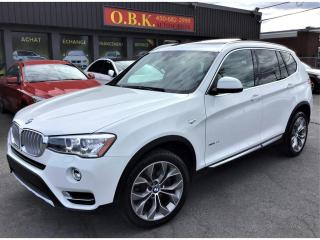 Used 2016 BMW X3 xDrive28i-TOIT PANO-NAVIGATION-HEAD UP DISPLAY-CAM for sale in Laval, QC