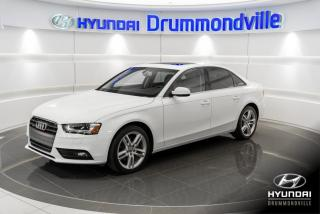 Used 2013 Audi A4 PREMIUM QUATTRO + GARANTIE + NAVI + TOIT for sale in Drummondville, QC