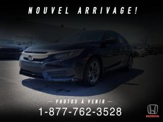 Used 2016 Honda Civic LX + AUTO + A/C + CRUISE + WOW! for sale in St-Basile-le-Grand, QC