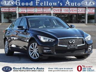Used 2016 Infiniti Q50 AWD, LEATHER SEATS, 4CYL 2L TURBO, DOUBLE SUNROOF for sale in Toronto, ON