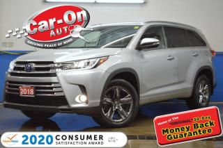 Used 2018 Toyota Highlander HYBRID Limited AWD 7 SEATER LEATHER NAV PANO ROOF ADAPTIV for sale in Ottawa, ON