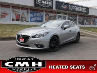 Used 2015 Mazda MAZDA3 GS  HTD-SEATS ALLOYS MANUAL PWR-GROUP BT for sale in St. Catharines, ON