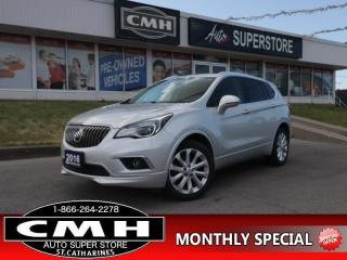 Used 2016 Buick Envision Premium I  AWD LEATH ROOF CAM LD BS HS for sale in St. Catharines, ON